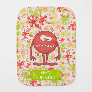 Mommy's Little Monster Customizable Burp Cloth
