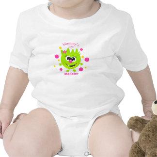 Mommy's Little Monster Green Infant Creeper