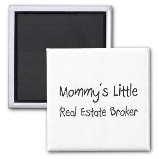 Mommys Little Real Estate Broker Square Magnet