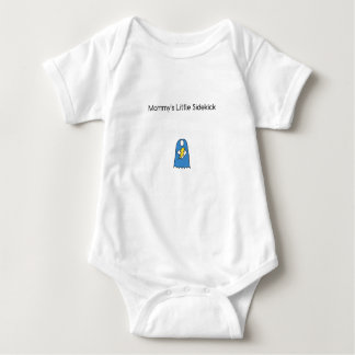 Mommy's Little Sidekick Superhero Cape Blue Baby Bodysuit