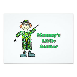 Mommy's Little Soldier 13 Cm X 18 Cm Invitation Card