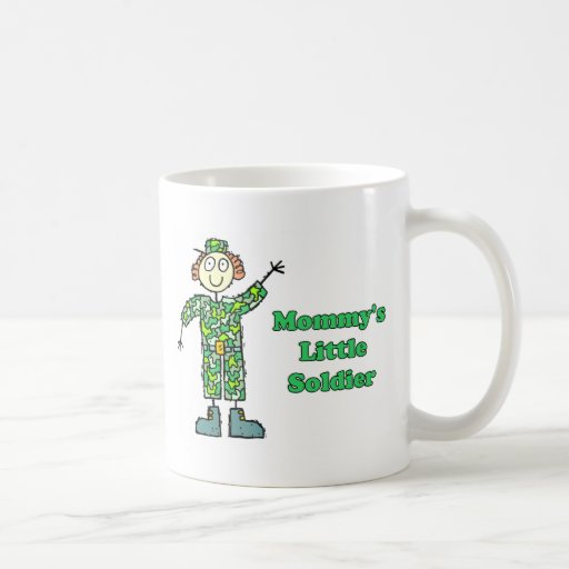 Mommy's Little Soldier Coffee Mugs