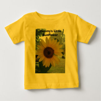 Mommy's Little Sunflower Baby T-Shirt