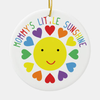 Mommy's Little Sunshine Christmas Ornament