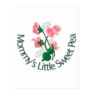 Mommy's Little Sweet Pea Postcard