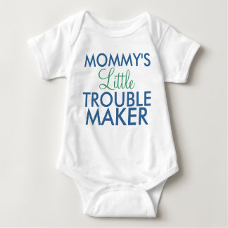 Mommy's Little Trouble Maker Blue Baby Bodysuit