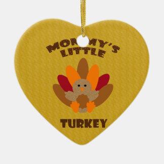 Mommy's Little Turkey Ceramic Heart Decoration