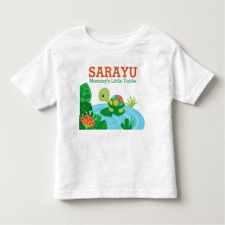 Mommy's Little Turtle Baby Jersey Bodysuit