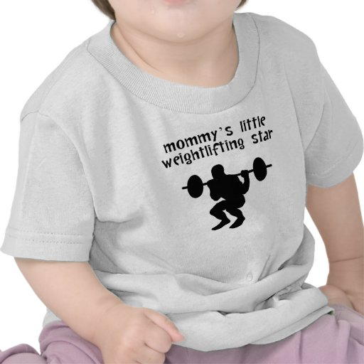Mommy's Little Weightlifting Star Tee Shirt