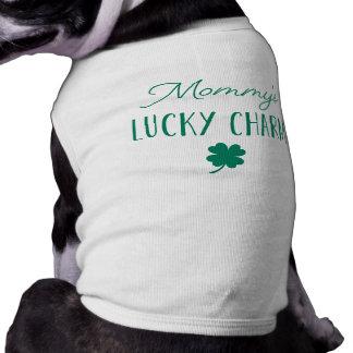 Mommy's Lucky Charm   Cute St. Patrick's Day Sleeveless Dog Shirt