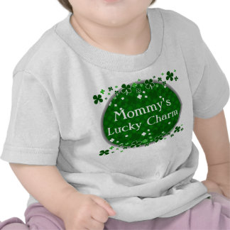 Mommy's Lucky Charm, St. Patrick's Day Baby Tee Shirts