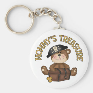 Mommy's Treasure Basic Round Button Key Ring