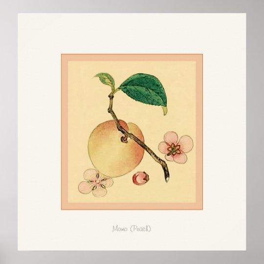 Momo (Peach) ~ Vintage Japanese Fine Art Print