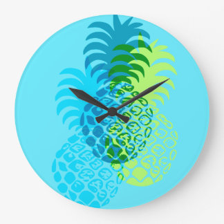 Momona Pineapple Hawaiian Tropical Large Clock
