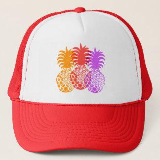 Momona Pineapple Hawaiian Tropical Trucker Hat