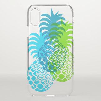 Momona Pineapple Hawaiian Tropical Turquoise iPhone X Case