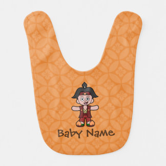 Momotaro: The Peach Boy Bib