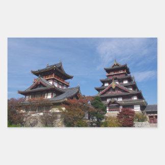 Momoyama Castle in Fushimi, Kyoto Rectangular Sticker