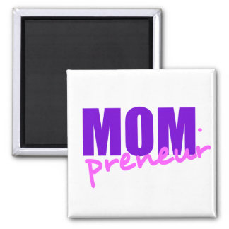 Mompreneur With Dot Hyphen, Two Colors Square Magnet