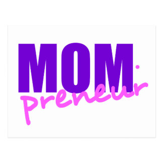 Mompreneur With Dot Hyphen, Two Colors Postcard