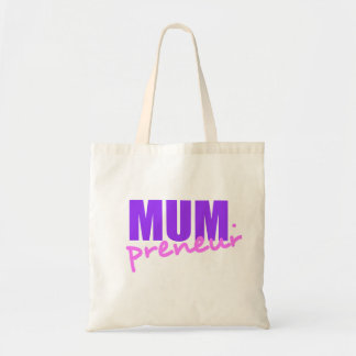 Mompreneur With Dot Hyphen Two Colors Two Fonts Bag