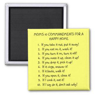 MOM'S 10 COMMANDMENTS MAGNET