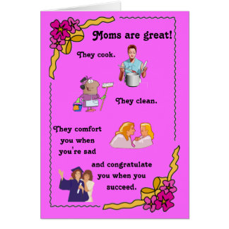 Moms are great Greeting Card