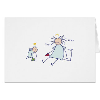 Moms are not angels greeting card