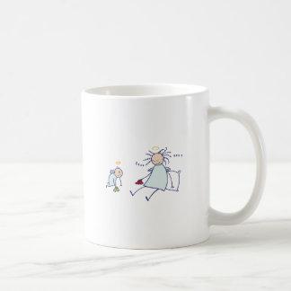 Moms are not angels basic white mug