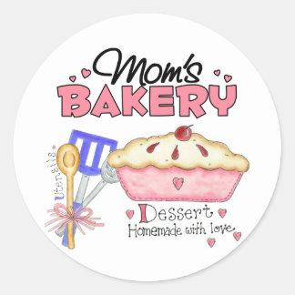 Mom's Bakery Gift Classic Round Sticker