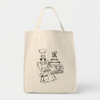 Mom's Bakery Grocery Tote Bag