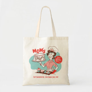 Mom's Bakery Retro Mother's Day Tote Budget Tote Bag