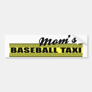 Mom's Baseball Taxi Bumper Sticker