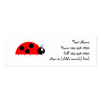 Mom's Calling Card - Ladybug Business Card Template