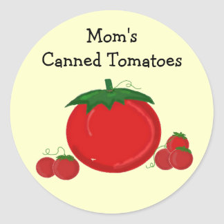 Mom's Canned Tomatoes Classic Round Sticker