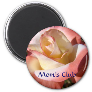 Mom's Club magnet gifts Pink Rose Bud flower