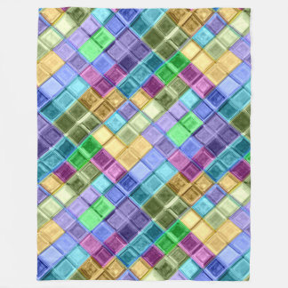 Moms colorful fleece mosaic