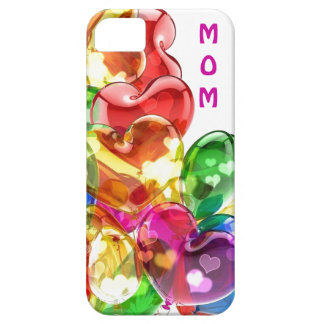 Mom's colorful Heart iPhone Case