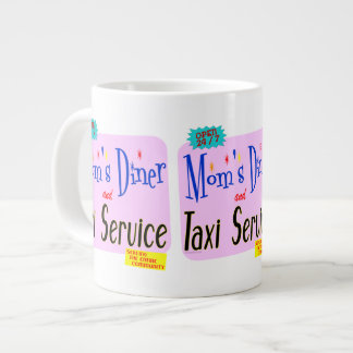 Moms Diner and Taxi Service Retro Saying Jumbo Mugs