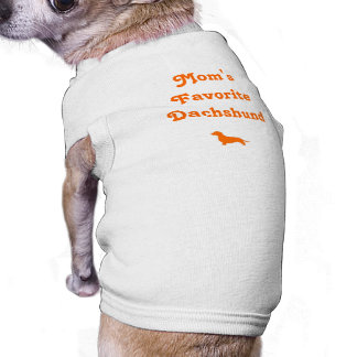 Mom's Favorite Dachshund Doggie Tee Shirt