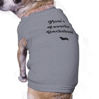Mom's Favorite Dachshund Sleeveless Dog Shirt