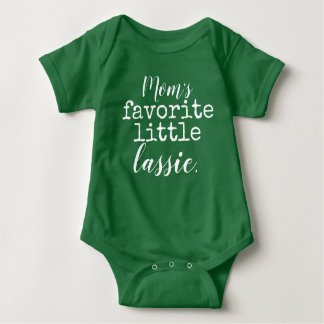 mom's favorite little lassie baby bodysuit