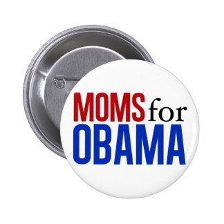 Moms for Obama 6 Cm Round Badge
