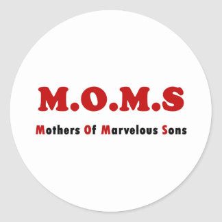 Moms Full Round Sticker