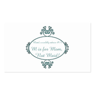 Mom's funny advice t-shirts and gifts for mom business card template