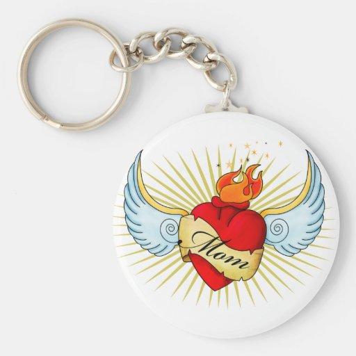 Mom's Heart Key Chains
