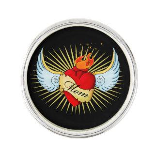 Mom's Heart Lapel Pin