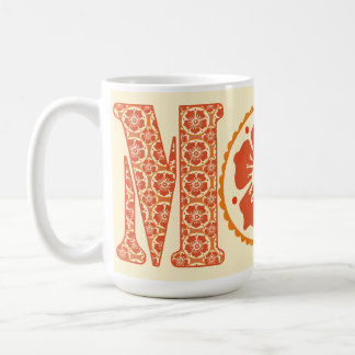 Mom's Henna Floral Pattern Mother's Day Coffee Mug