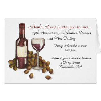 Mom's House Wine Tasting Greeting Card