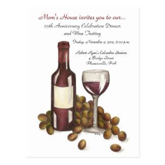 Mom's House Wine Tasting Postcard